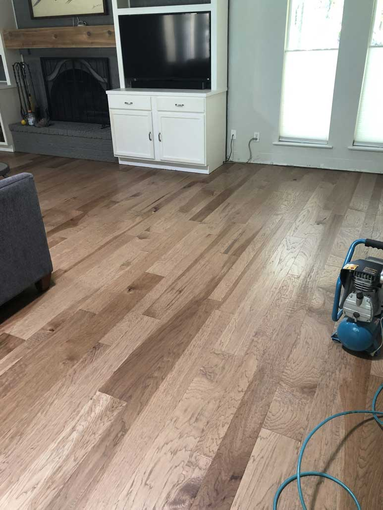 Mix width Engineered Wood install