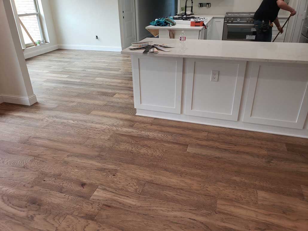 Engineered Wood Job with Baseboard