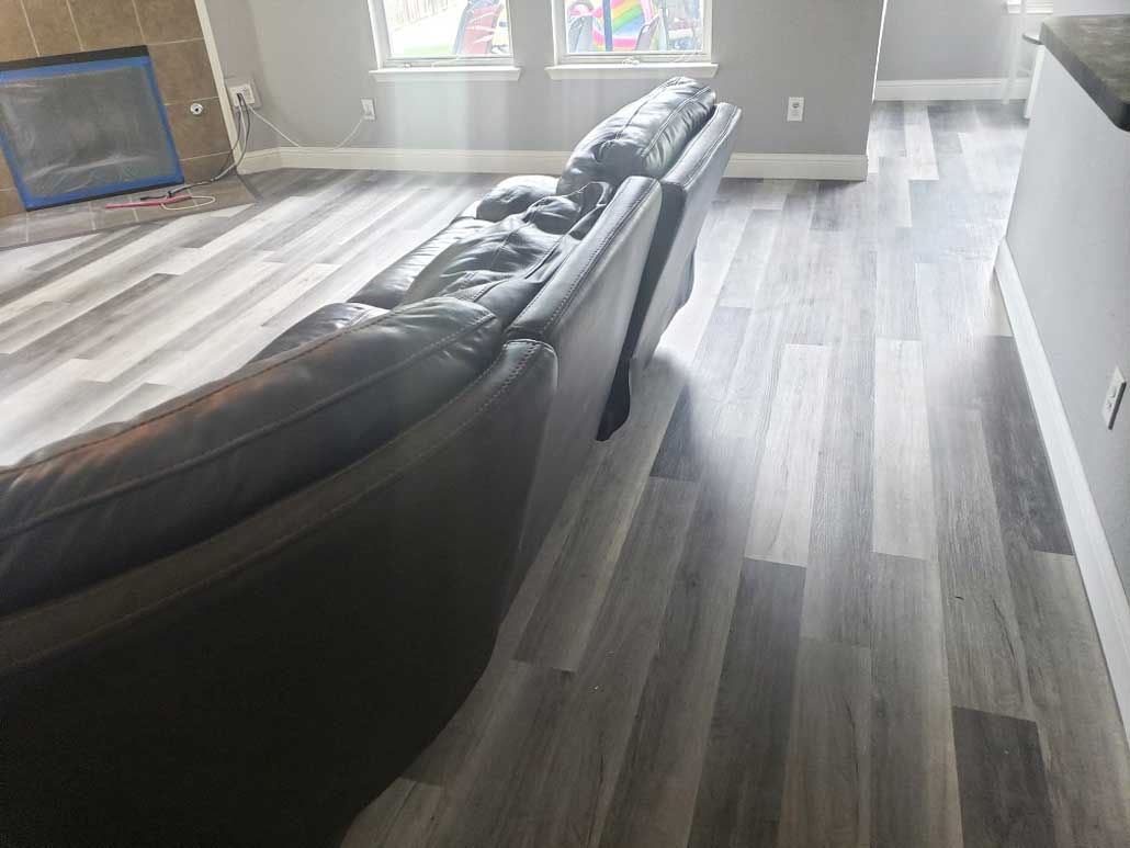 Click Vinyl with Baseboard