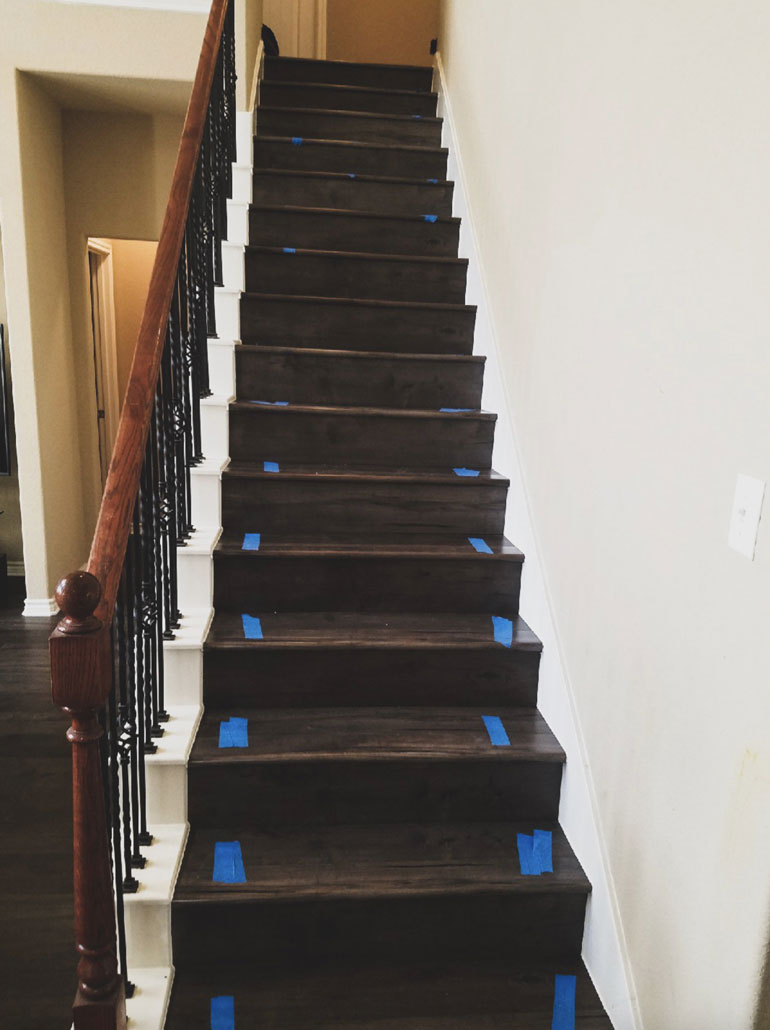 Engineered Wood Stair Remodel